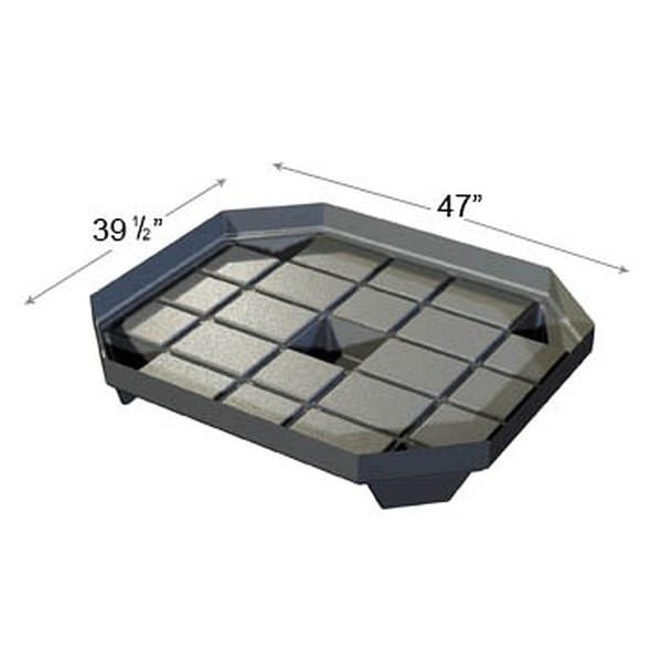 Plastic Black Abs Bin Set