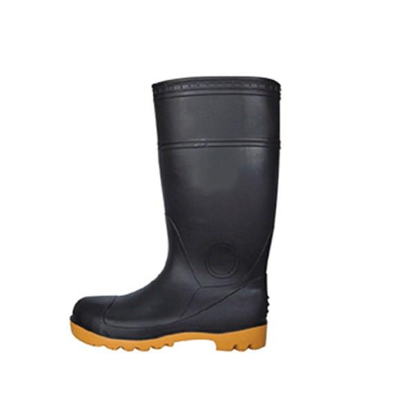 "16"" Black Boots Size 7"