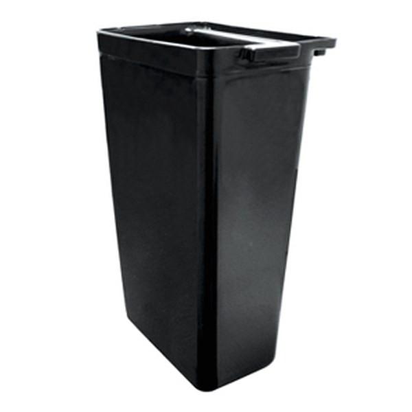 UPDATE RB-20BK Black Plastic Refuse Bin