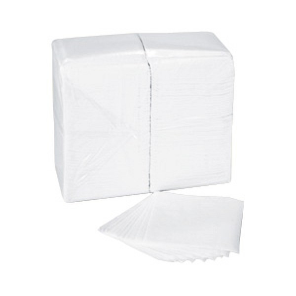 "Spring Grove 409347 Luncheon Napkin 1 Ply 11.7"" X 12"" White Full Fold"