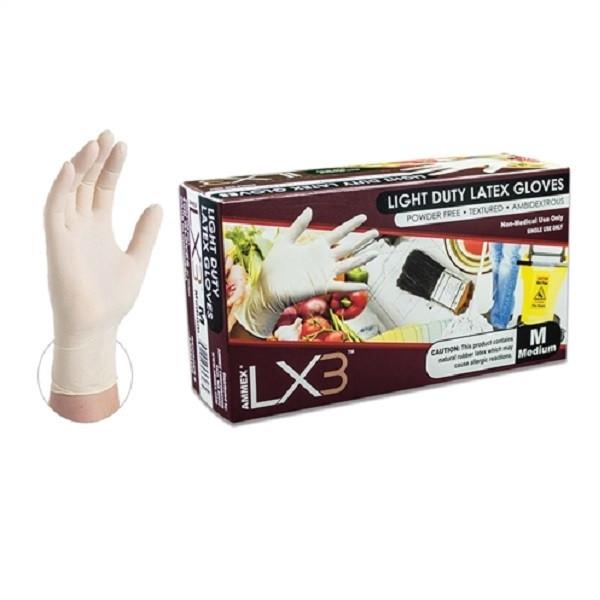 Ammex LX3 Powder Free Latex Glove Medium