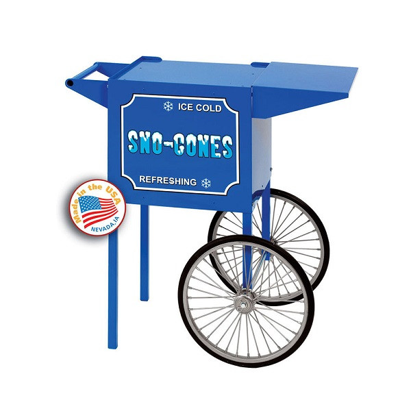 Paragon 3080030 Blue Small Sno-Cone Cart