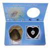 Sterling Silver Pearl in Oyster Gift Set w/CZ Heart Pendant