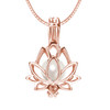 Lotus Flower in sterling silver Rose gold