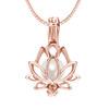 Lotus Flower in sterling silver Rose gold