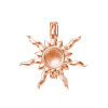 Sterling Silver Rose gold sun pendant