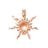 Sterling Silver Rose gold sun pendant