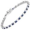 Sterling Silver Sapphire and White Topaz bracelet