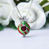 Christmas ball ornament with pearl