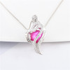 Heart pendant with pink pearl for mom