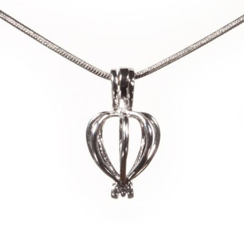 Pearl in Oyster Gift Set w/ Necklace and Heart Pendant