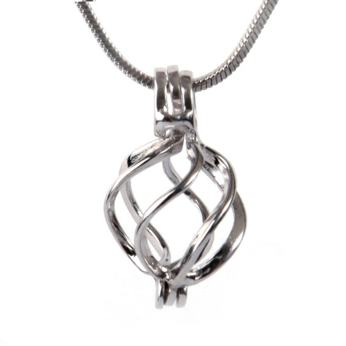 spiral pendant and chain