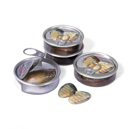 Freshwater Pearl Oysters in Can