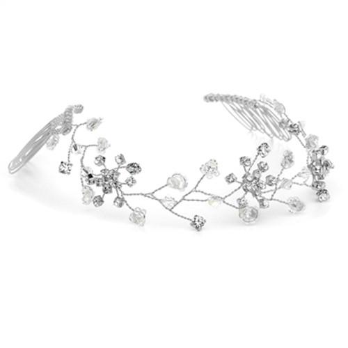 Bridal vine crystal tiara
