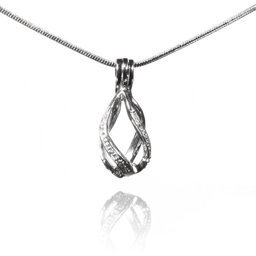 Pearl in Oyster Gift Set  w/Helix Drop Pendant