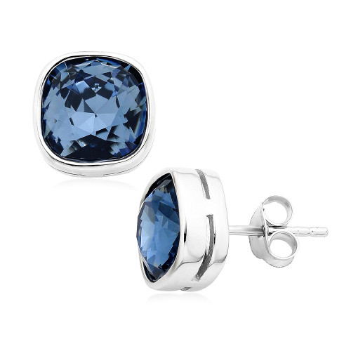 Swarovski Crystal Stud Earrings w/ Sterling Silver Backing