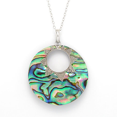 Abalone Pendant Mother of Pearl Jewelry