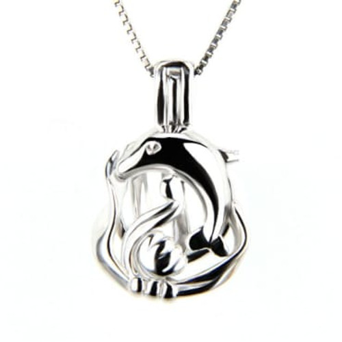 Wish Pearl Necklace Set w/Dolphin Pendant