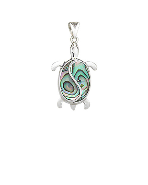 Abalone Turtle Pendant w/Sterling Silver Accents