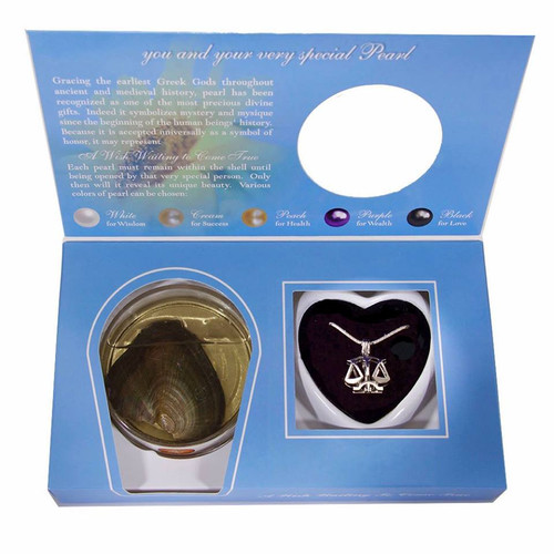 Pearl in Oyster Gift Set w/Libra Pendant