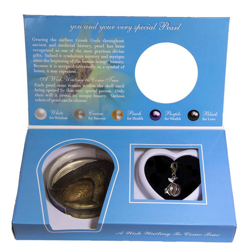 Pearl in Oyster Gift Set w/Apple Charm for Bracelet