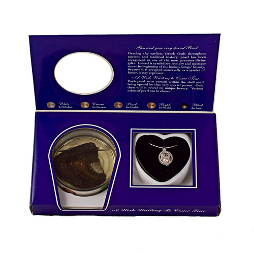 Pearl in Oyster Gift Set with Sterling Silver Cowboy Hat Pendant