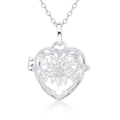 Pearl in Oyster Gift Set w/Sterling Silver Sunflower Pendant