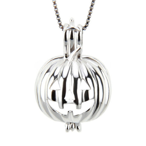 Sterling Silver Pumpkin Pendant