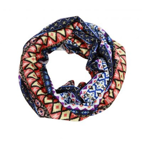 Soft Stretch Headband w/ikat Indonesian Design