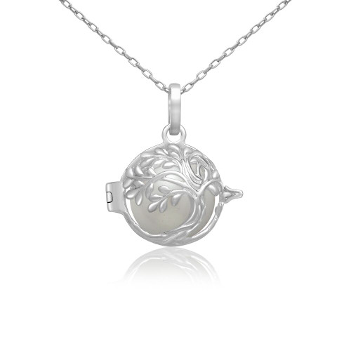 Pearl in Oyster Gift Set w/Sterling Silver Tree of Life Pendant
