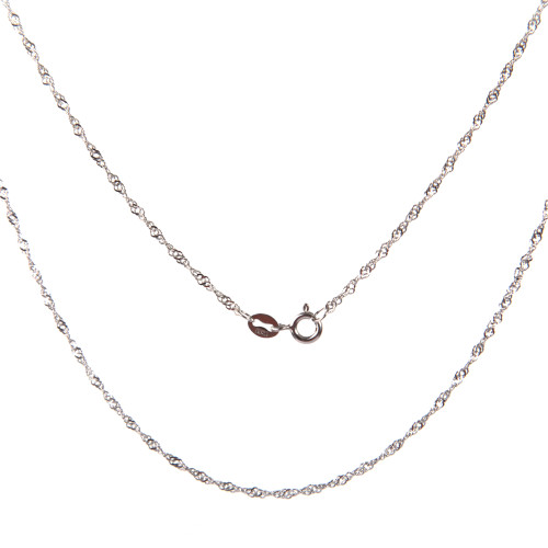 Sterling Silver Chain in Rope Design