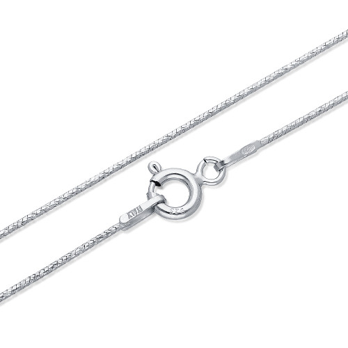 Sterling Silver Chain in Round Snake Design