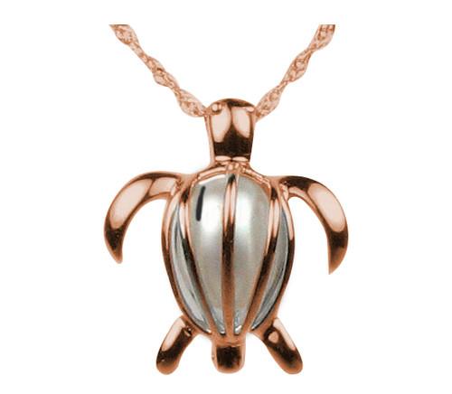 rose gold turtle pendant