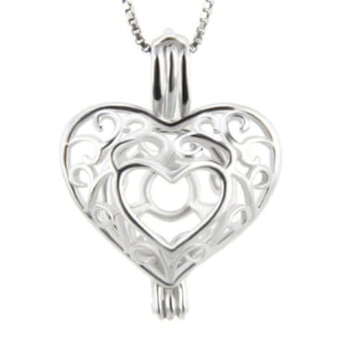 Hollow Heart cage Pendant