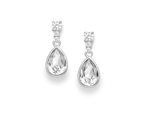 Swarovski Sterling Silver Drop Earrings