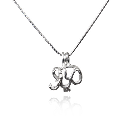 Wish pearl elephant pendant
