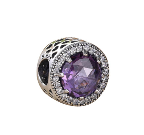 Purple CZ Charm