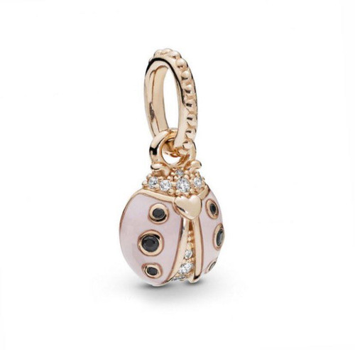 Sterling Silver Rose Gold Lady Bug Charm