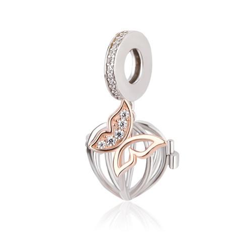 Heart Butterfly Charm