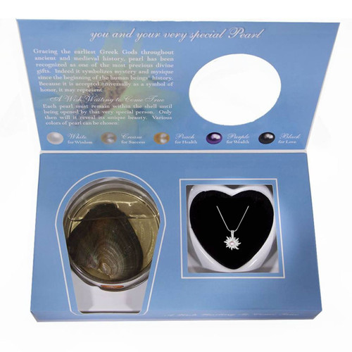 dahlia pendant wish pearl set
