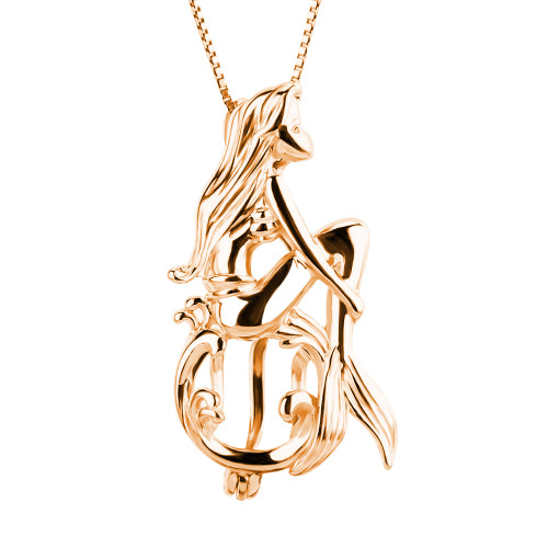 rose gold mermaid pendant