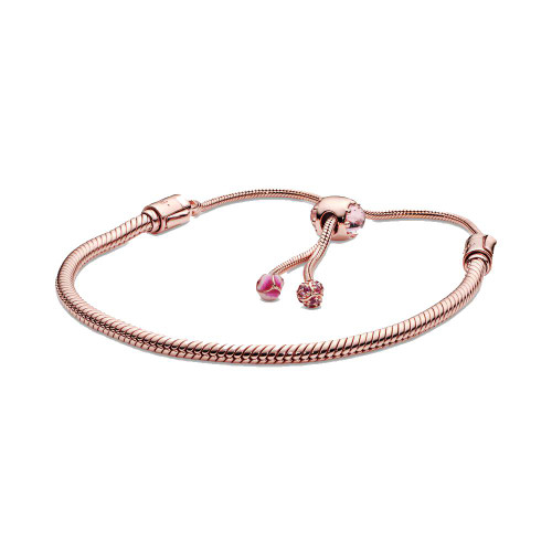 Sterling Silver ROse GOld Coated Snake Bracelet