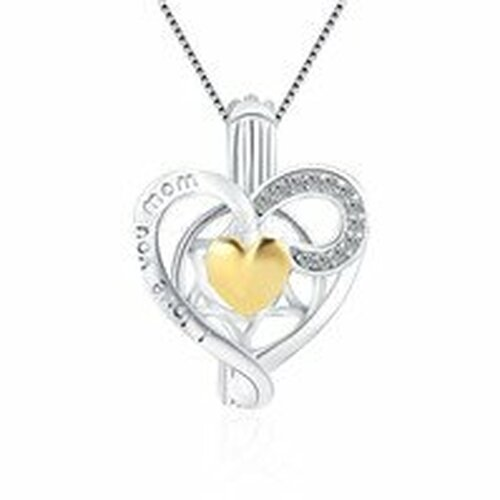 Sterling pendant with gold shaped heart