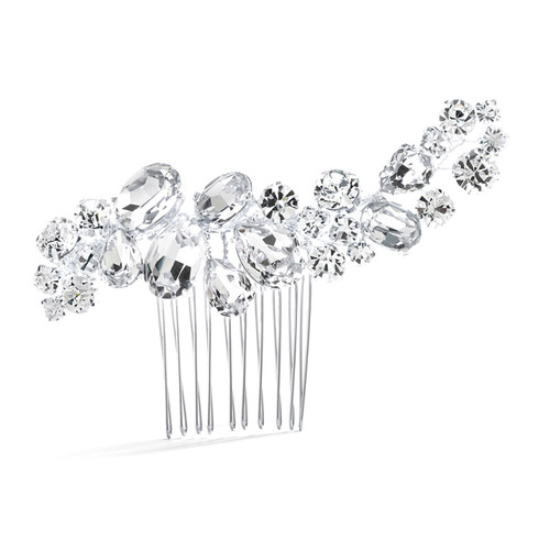 Crystal Cluster Wedding or Pageant Comb Bridal Hair Accessories