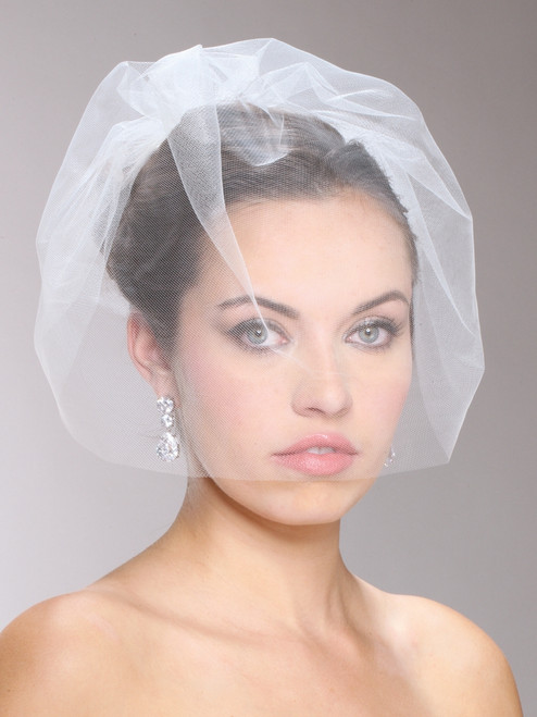 Elegant Handmade Tulle Birdcage Blusher Bridal Veil