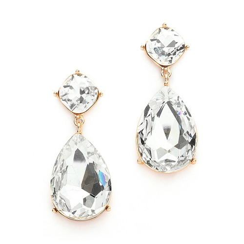 Ever so Chic Bridal   Prom CZ Dangle Earrings