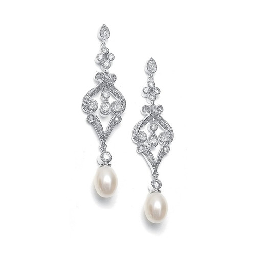Freshwater Pearl Bridal | Prom Drop Earrings Jewelry