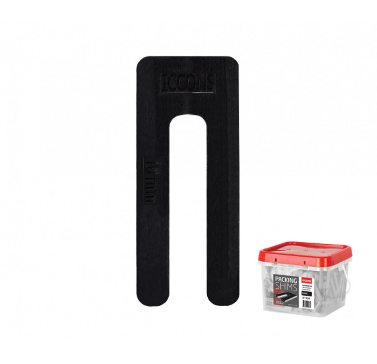 WINDOW PACKER - SHIM TUB ICCONS 5.0mm x 75mm 400pce RED