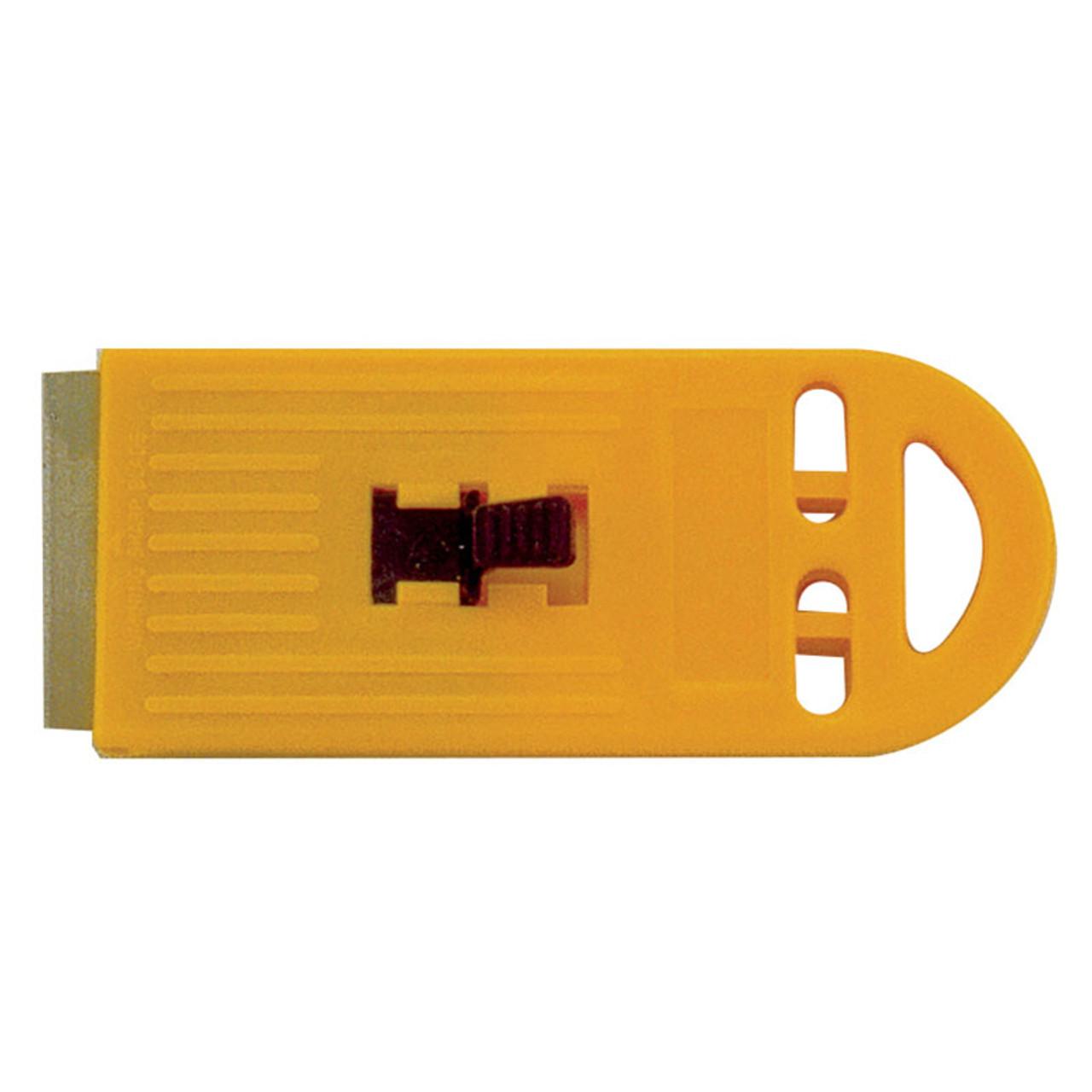 Yellow Plastic Scraper with 1 blade