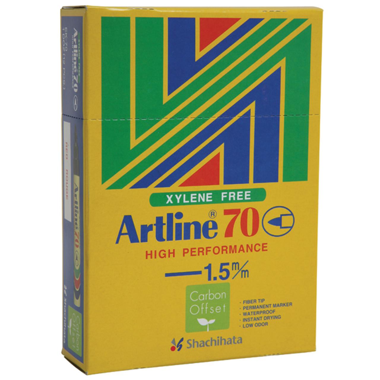 Artline Permanent Marker 70 Bullet Nib Multiple Colors